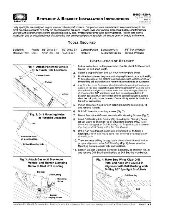 420 A Rev C Spotlight Installation Instructions Pdf Copy