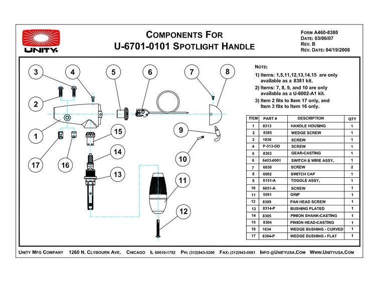 U-6701-0101 Handle Parts Breakdown (PDF Copy)