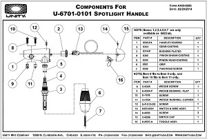 U-6701-0101 Handle Parts Breakdown (Redesigned Toggle