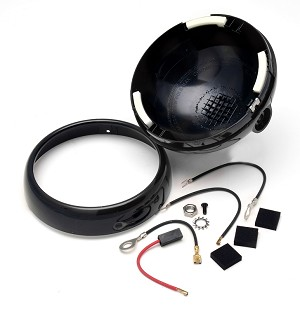 "7662-0002 6"" Spotlight Shell & Ring Kit Black (S04)"